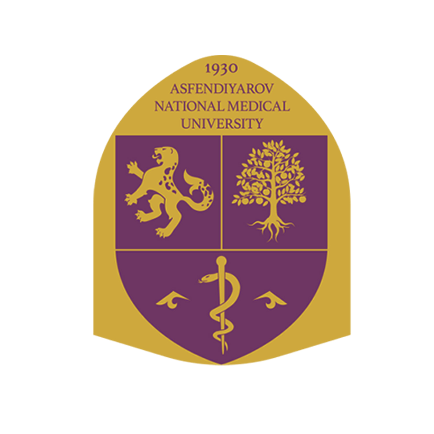 kazakh National medical university logo